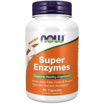 Super Enzymes 90 Capsulas Now foods