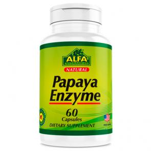 Papaya Enzyme (60 caps) - Alfa Vitamins