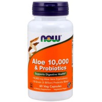 Aloe Vera 10.000 & Probióticos (60 cápsulas) - Now Foods