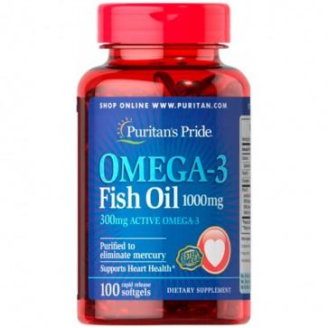 Omega-3 Fish Oil 1000 mg - Puritan's Pride Puritans Pride