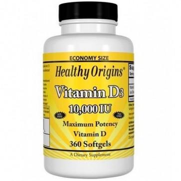 Vitamina D3 10.000 IU (360 softgels) - Healthy Origins Healthy Origins