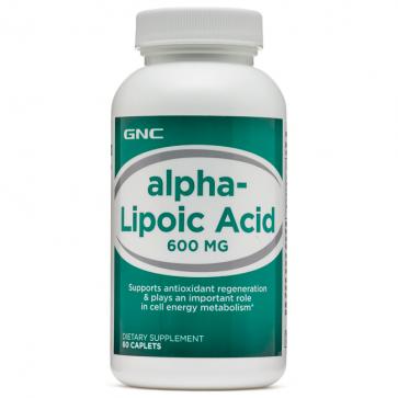 Ácido Alpha-Lipóico 600mg (60 caps) - GNC GNC