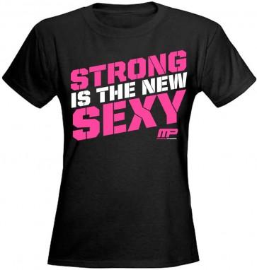 Camiseta Feminina Sexy Tee (Preta) - Muscle Pharm