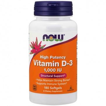 Vitamina D-3 1000IU 180 Cápsulas Now Foods Now Foods