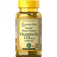 Vitamina D3 5,000 IU (100 softgels)