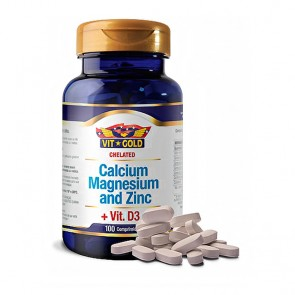 Calcium, Magnesium and Zinc + Vit. D3 (100 comprimidos) - VitGold