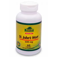 St. John's Wort 600mg (60 caps) - Alfa Vitamins
