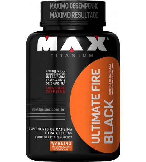 Ultimate Fire Black (60 Cápsulas) - Max Titanium
