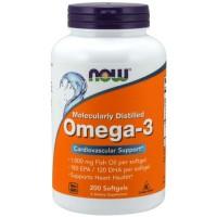 Omega 3 1000 (200 softgels) - Now Foods