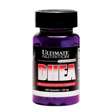 DHEA 25mg - Ultimate Nutrition (100 cápsulas)  Ultimate Nutrition