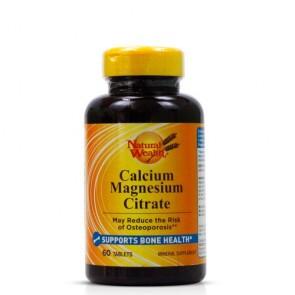 Calcium Magnesium Citrate - 60 Tabs - Natural Wealth