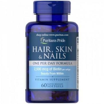 Hair, Skin & Nails (60 caps) - Puritan's Pride Puritans Pride