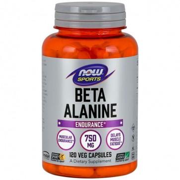 Beta Alanina 750mg (120 cápsulas) - Now Foods