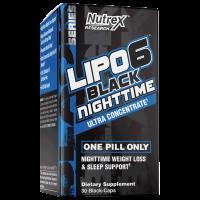 Lipo 6 Black Nighttime (30 cápsulas) - Nutrex