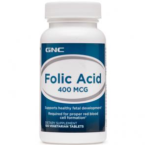 Ácido Fólico 400mcg (100 tabs) - GNC