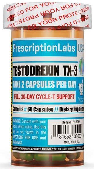 Testodrexin TX-3 (60 cápsulas) - PrescriptionLabs USA