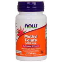 Methyl Folate 1000mcg (90 tabs) - Now Foods