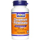Picolinato de Cromo 200mcg (100 cápsulas) - Now Foods