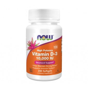 Vitamina D3 10.000 IU (240 softgels) - Now Foods Now Foods