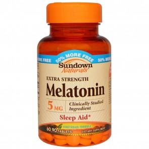 MELATONINA 5mg - Sundown Naturals (60 cápsulas)