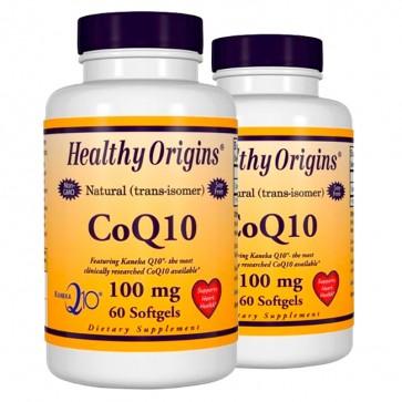Combo: 2uni CoQ10 100mg (60 softgels) - Healthy Origins Healthy Origins