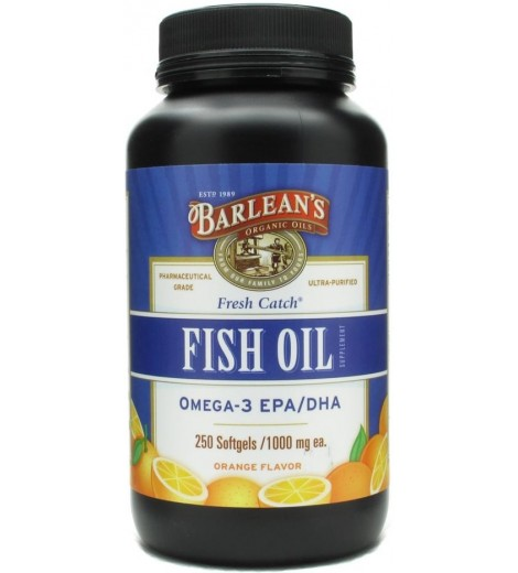 Fish Oil 1000mg (250 softgels) - Barlean's
