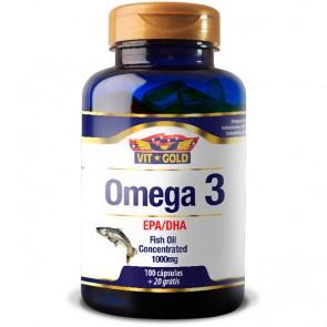 Omega 3 1000mg (100 cápsulas) - VitGold