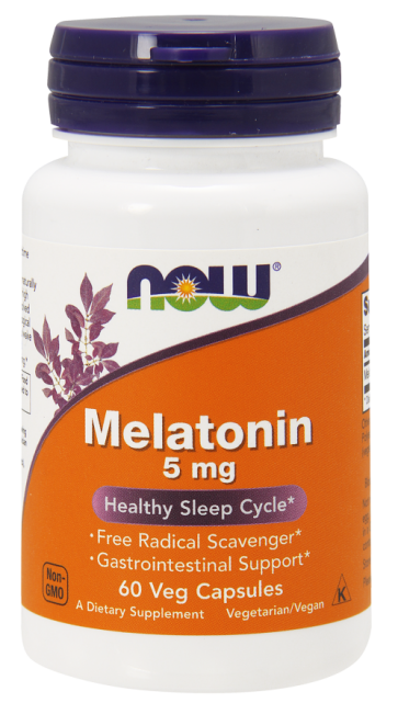 Melatonina 5mg (60 V Caps) - Now Foods