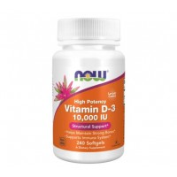 Vitamina D3 10.000 IU (240 softgels) - Now Foods