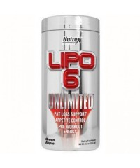 Lipo 6 Unlimited em Pó - Nutrex - Green Apple