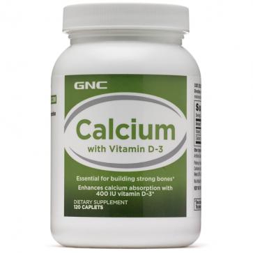 Calcium + Vitamin D-3 (120 caps) - GNC GNC