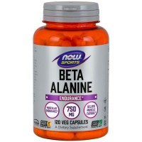 Beta Alanina 750mg (120 cápsulas) - Now Foods