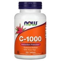 Vitamina C-1000 (100 cápsulas) - Now Foods