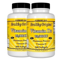 Combo: 2 Vitamina D3 10.000 IU (360 softgels) - Healthy Origins