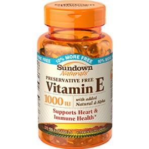 Vitamina E 1000 IU DL-ALPHA & D-ALPHA 55 softgels - Sundown Naturals