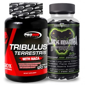 Combo: Tribulus Terrestris - Pro Size + Black Mamba - Innovative