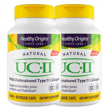 Combo: 2 un UC II 40mg (60 caps) - Healthy Origins Healthy Origins