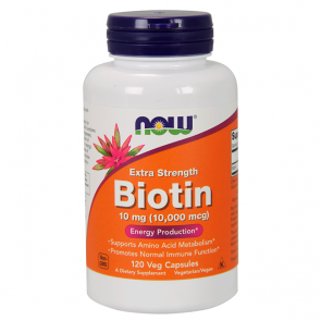 Biotina 10mg (120 caps) - Now Foods