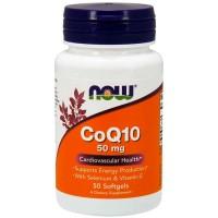 CoQ10 50mg (50 softgels) - Now Foods