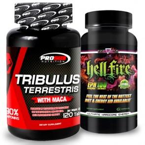 Combo: Tribulus Terrestris - Pro Size + Hell Fire - Innovative