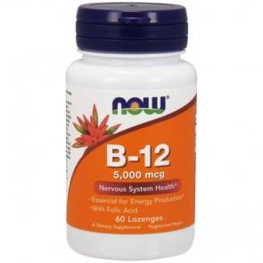 Vitamina B-12 + Ácido Fólico (60 comprimidos) - Now Foods