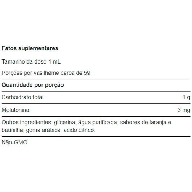 Melatonina Líquida 3mg (59ml) - Life Extension