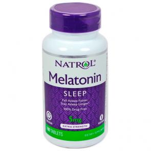 Melatonina 5mg (100 tabs) - Natrol