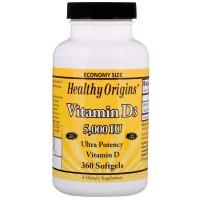 Vitamina D3 5000UI (360caps) - Healthy Origins