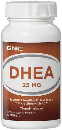 DHEA 25mg Time Release - GNC