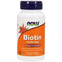 Biotina 5000 (60 cápsulas) - Now Foods