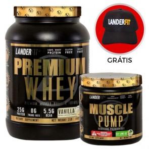 Combo: Premium Whey + Muscle Pump - Landerfit