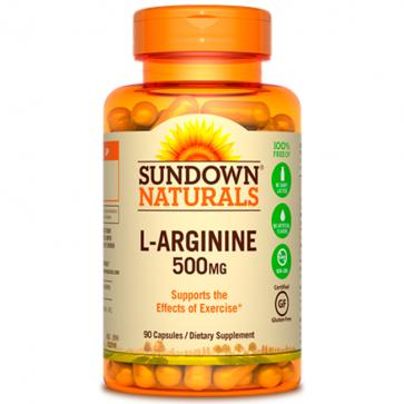 L-arginine 500mg (90 caps) - Sundown Naturals