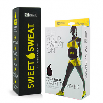 Combo: Sweet Sweat Bastão + Cinta Modeladora - Sports Research Sports Research