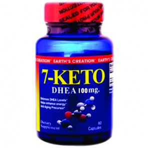 7-KETO 100mg - Earth's Creation USA  (60 cápsulas)